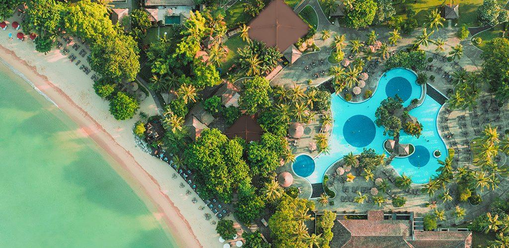 Melia Bali aerial view