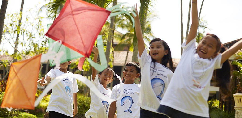 Melia Bali kite flying