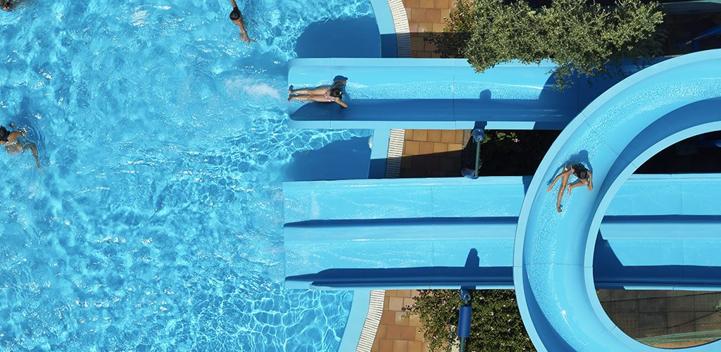 Porto Elounda water slide