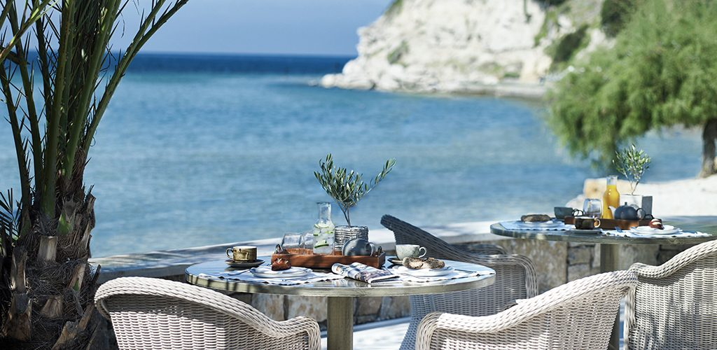 Sani beach dining